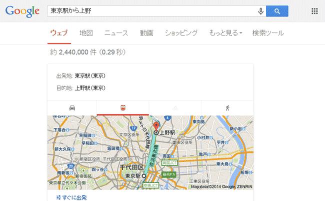 東京駅から上野