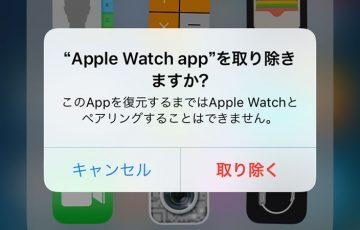 iPhoneの標準アプリを削除
