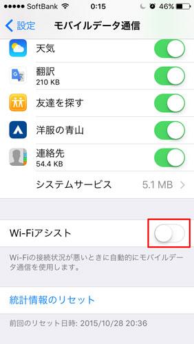 Wi-Fi アシスト